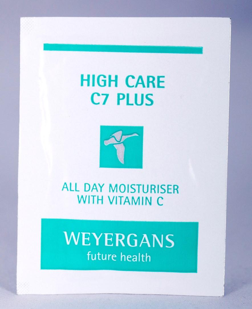 C7 Plus termékminta Hidratáló nappali krém C vitaminnal 2..